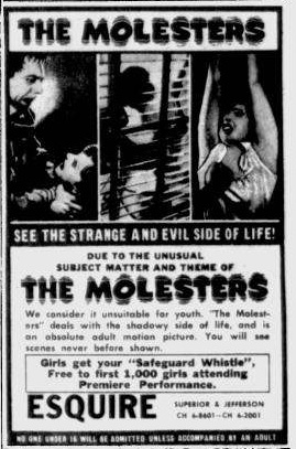 Swiss Exploitation with a High Creep Level (and a US Sales Gimmick)! The Molesters plays The Esquire, Toledo May 8, 1964